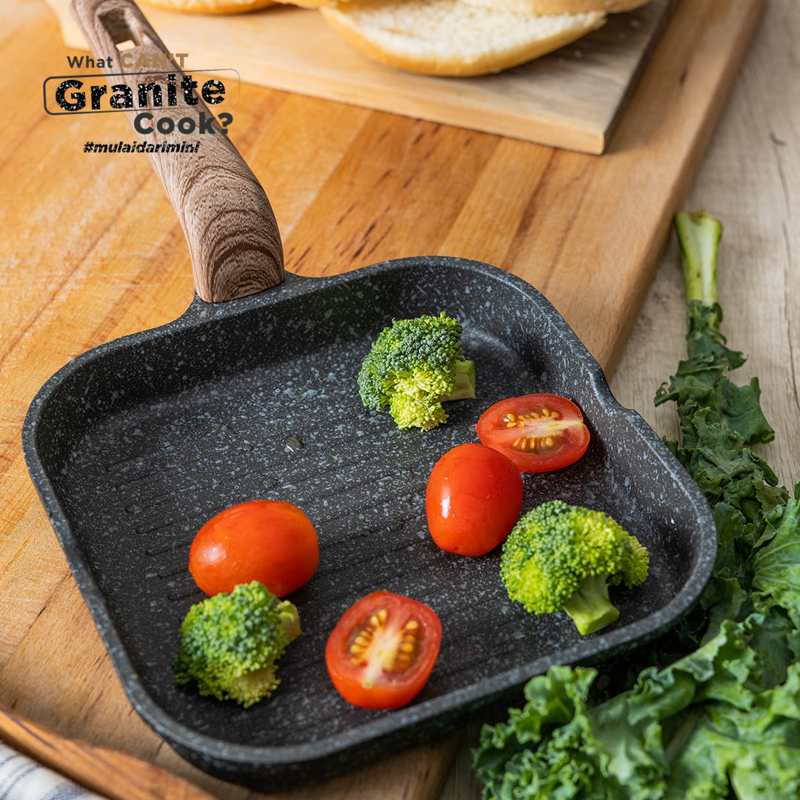 Debellin Granite Black Mini Grill Pan 14 cm