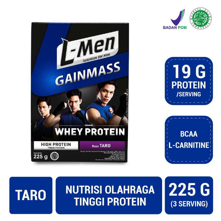 L Men Gain Mass Taro Minuman Suplemen 225 g