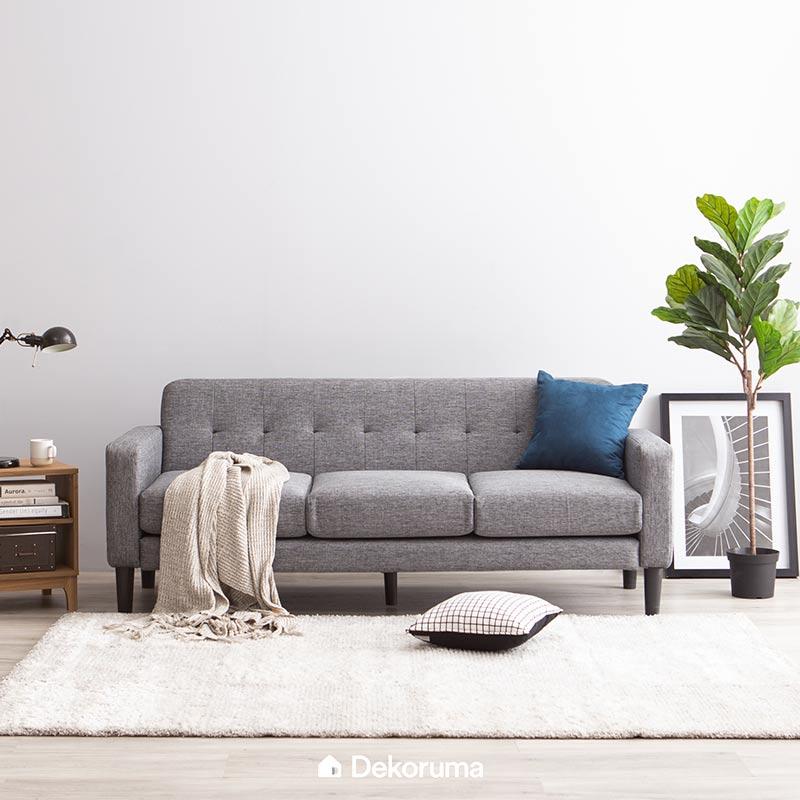 Desain Ruang Tamu Minimalis Ukuran 2x2 jual dekoruma hongo kursi sofa ruang tamu minimalis 3 seater