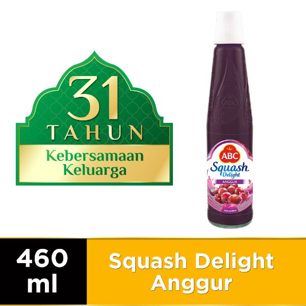 ABC Sirup Squash Delight Anggur 460 ml