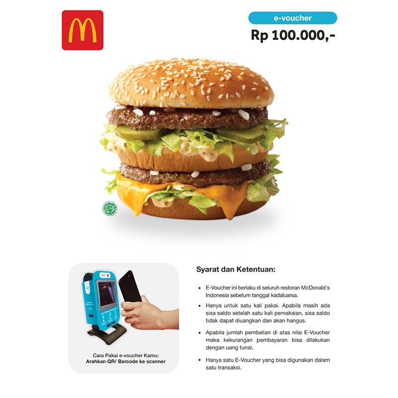 McD E-Voucher [Rp. 100.000]