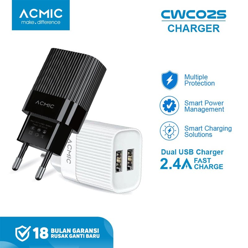 harga FS - ACMIC CWC02s Dual Travel Charger [2.4 A] Blibli.com
