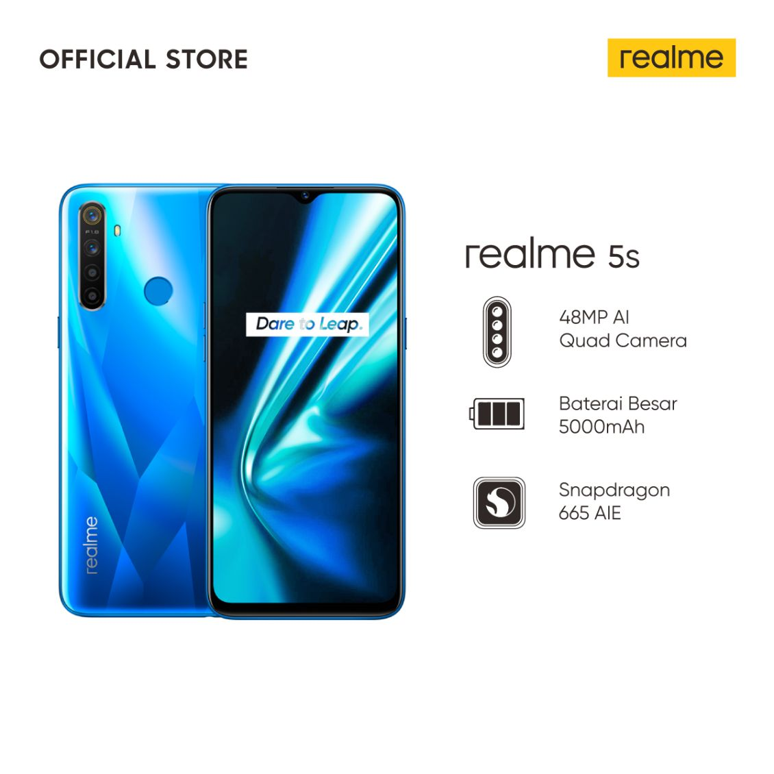 Realme 5s Crystal Blue 128 GB