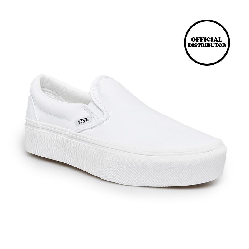 Vans Ua Classic Slip On Platform Sepatu True White
