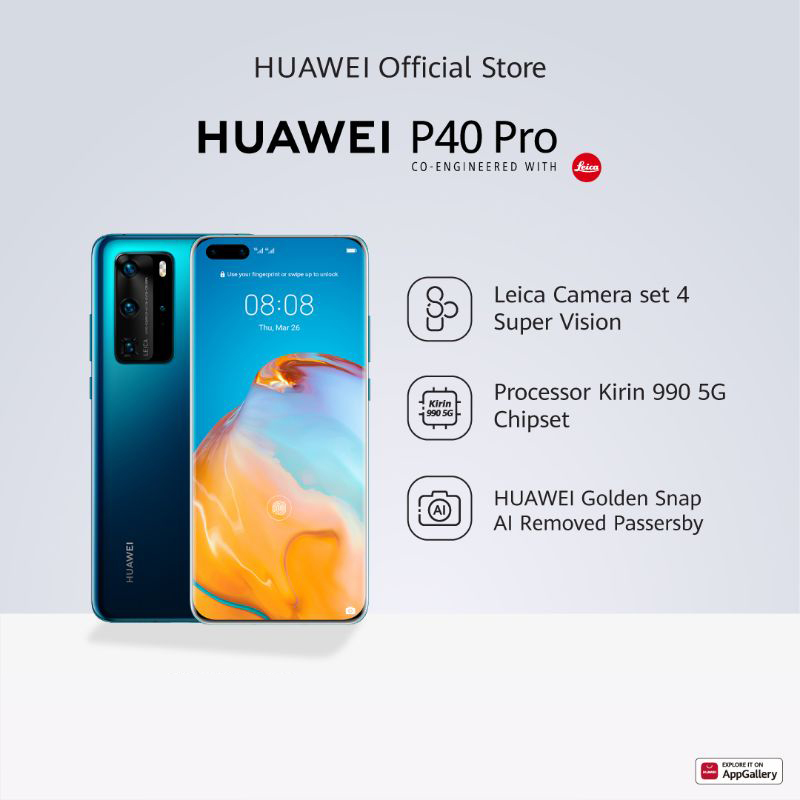 Huawei P40 Pro 5G Smartphone 8 256GB Kirin 990 50MP Leica Ultra Vision Camera 40W Wired SuperCharge Hp