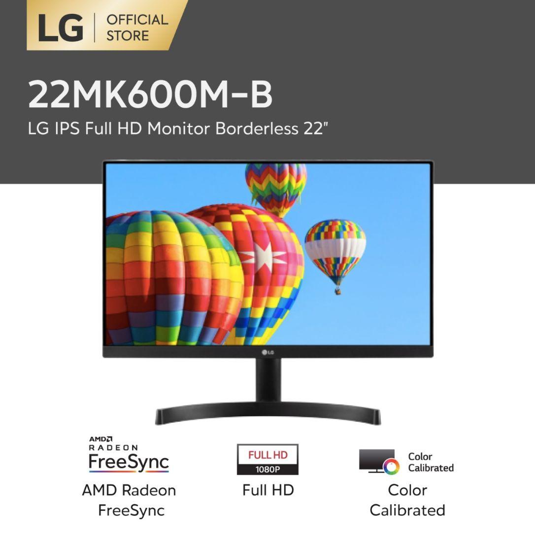 LG 22MK600M-B Monitor 22-Inch Class Full HD IPS LED with Radeon FreeSync