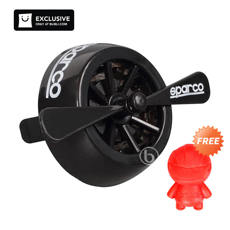 Paket Buy 1 Get 1 Sparco SPA 304 Parfum Mobil Aroma Black Ice Model Clip On