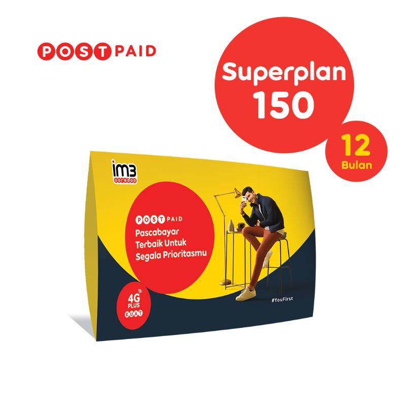 Kartu Perdana Pascabayar Superplan 150 12 Bulan