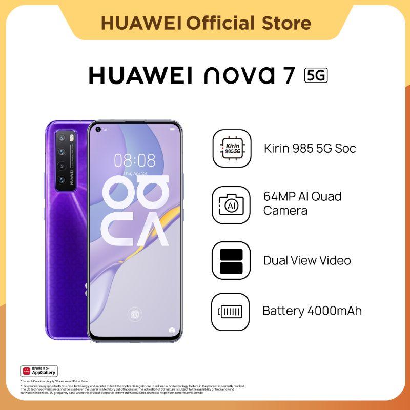 harga Huawei Nova 7 5G Smartphone [8+256GB] | 64MP AI Quad Camera | Kirin 985 | SuperCharge 40W | Hp Blibli.com