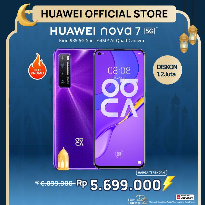 Huawei Nova 7 5G Smartphone [8+256GB] | 64MP AI Quad Camera | Kirin 985 | SuperCharge 40W | Hp