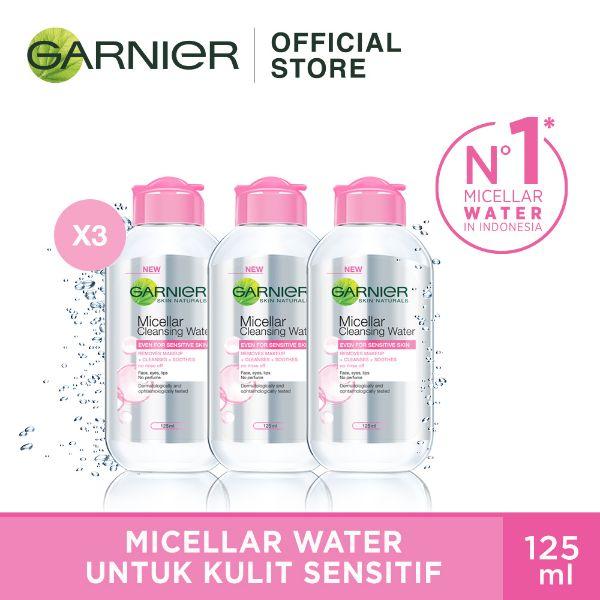 Garnier Micellar Water Pink Triple Pack 125 mL 3pcs