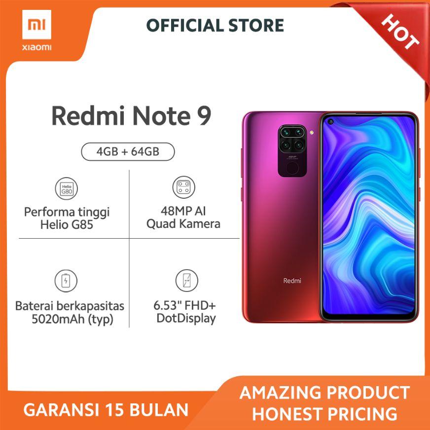 Jual Promo Xiaomi Redmi Note 9 Smartphone Red 64 Gb 4 Gb Garansi Resmi Online November 2020 Blibli Com