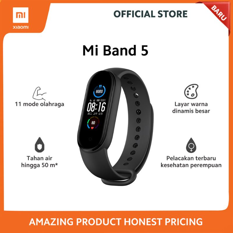 Xiaomi Mi Band 5 Activity Trackers Pedometers Black