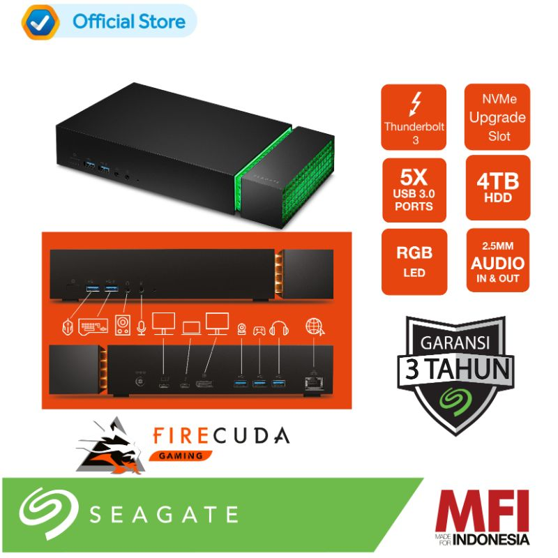 Seagate Firecuda Gaming Dock SSD 4TB STJF4000400