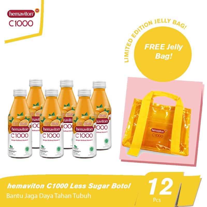 Hemaviton C1000 Orange Less Sugar Botol FREE Jelly Bag 150 ml 12pcs