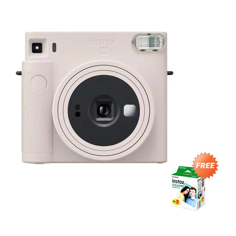 Fujifilm Instax Square SQ 1 Kamera Pocket Free 1 Square Twinpack