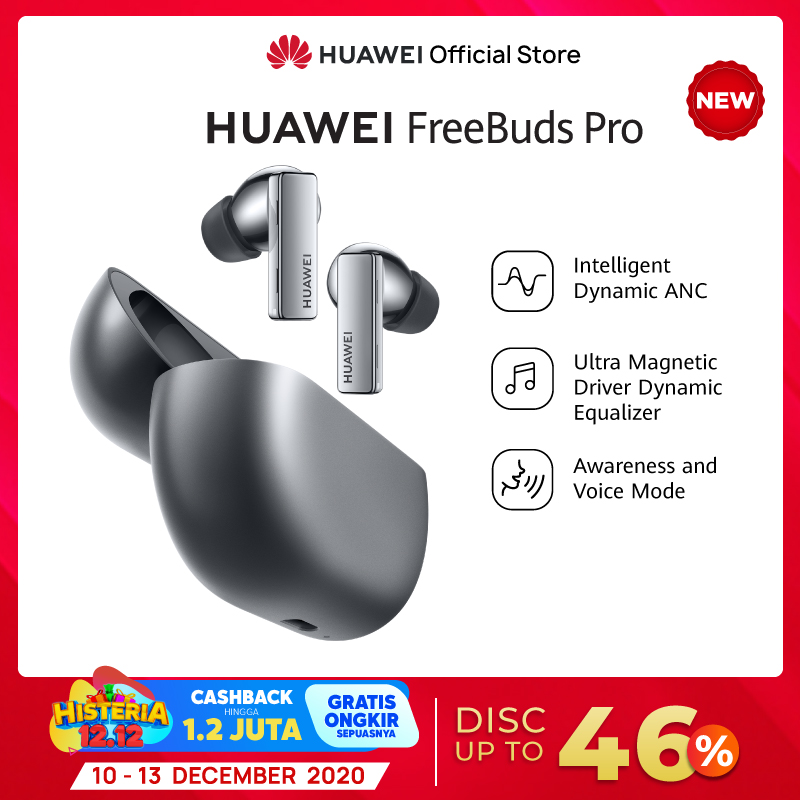 FLASH SALE NOW 12 12 Huawei Freebuds Pro Hybrid Active Noise Cancellation Intelligent Dynamic ANC
