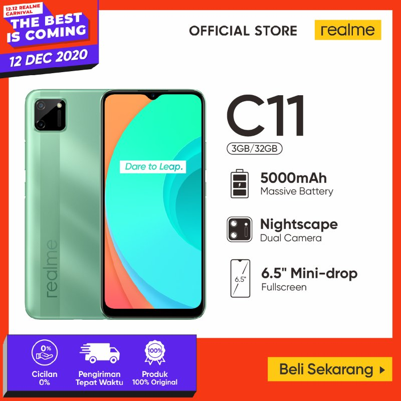 Realme C11 Smartphone 32GB 3GB Official Store