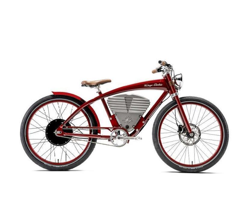Vintage Electric Bikes Tracker Electric Bike Sepeda Listrik Indy Red
