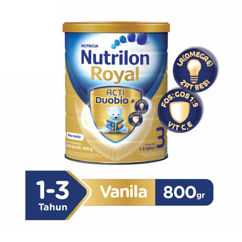 Nutrilon Royal Pronutra 3 Vanila Susu Fomula Tin 800gr