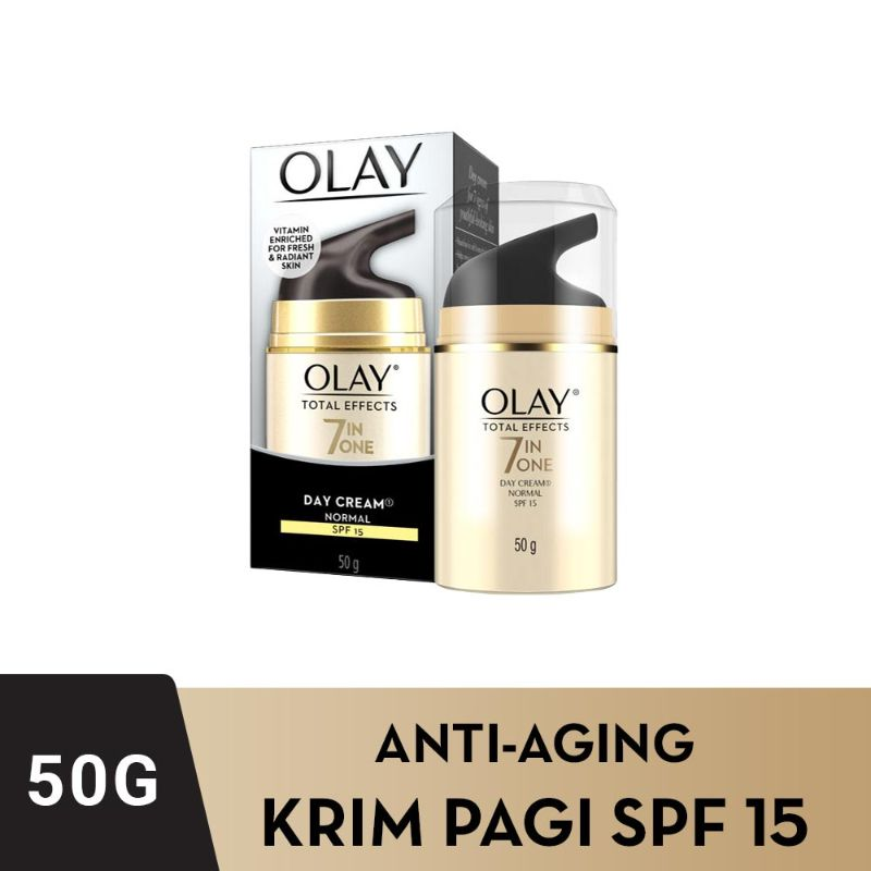 OLAY Total Effects 7 in One Day Cream Normal SPF 15 Krim Pelembab [50g]