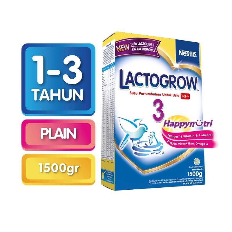 Lactogrow 3 Gold Susu Formula [2x750g] Box