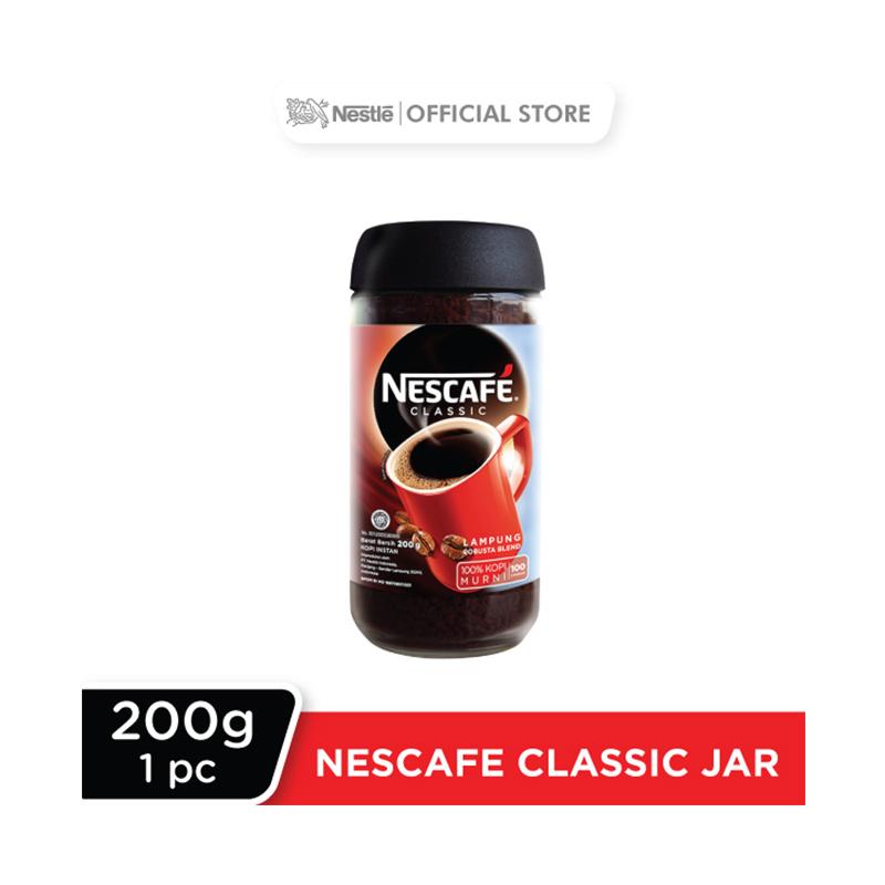 NESCAF Classic Kopi Instan Kopi Hitam 200g Jar
