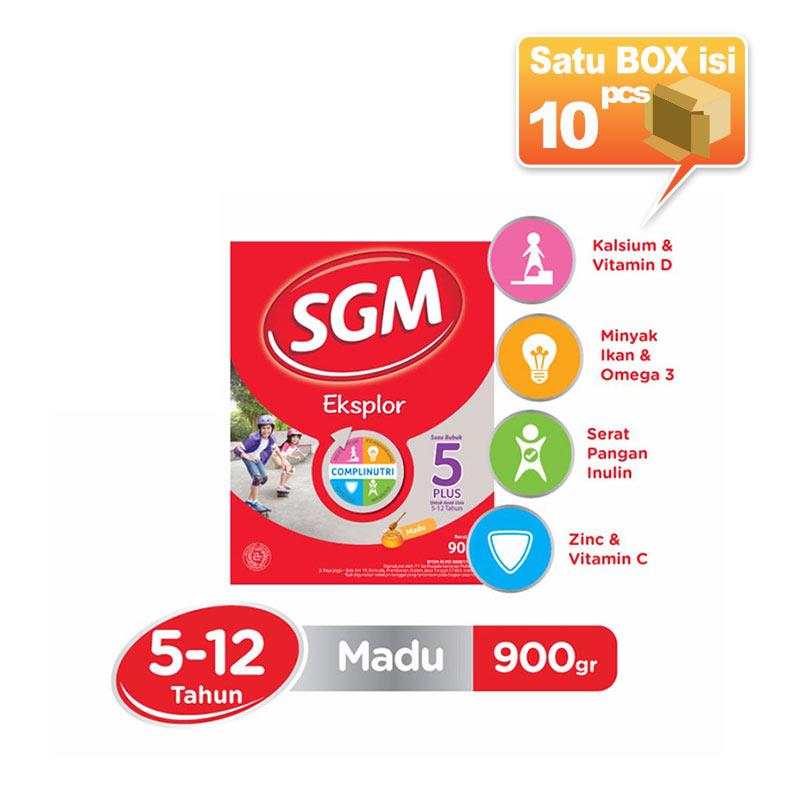 SGM Eksplor 5+ Madu 900gr Susu Formula [10 pcs/karton]