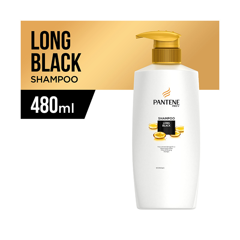 Pantene Long Black Shampoo [480 mL]