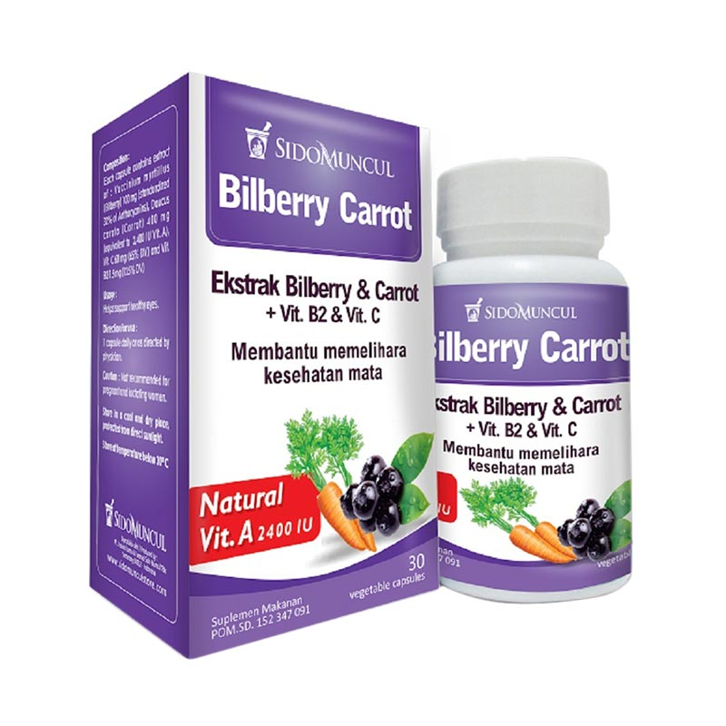 harga Nature's Blessing Bilberry Carrot Multivitamin [650 mg] Blibli.com