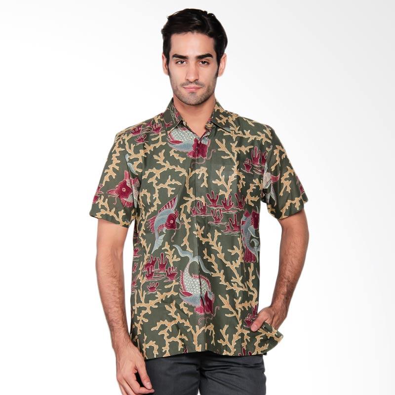Batik Semar Men Hpdk PI mino sesuko 60 Hijau Batik Pria