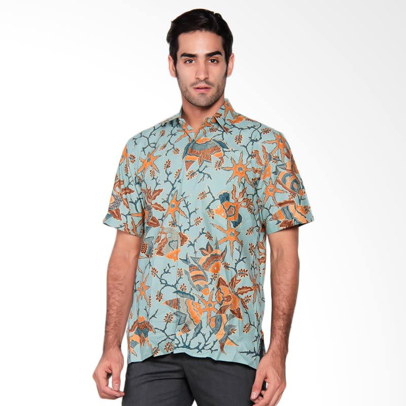 Batik Semar Men Hpdk PA mina samudra 40 Biru Batik Pria