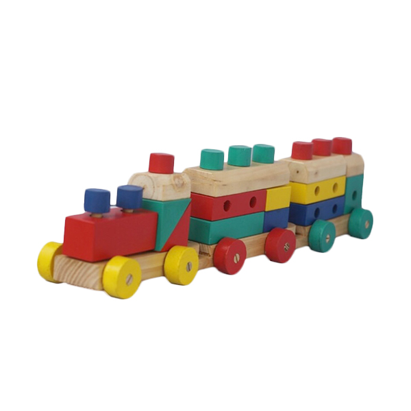 A Design Mainan Kayu Kereta 5 in 1 Mainan Anak
