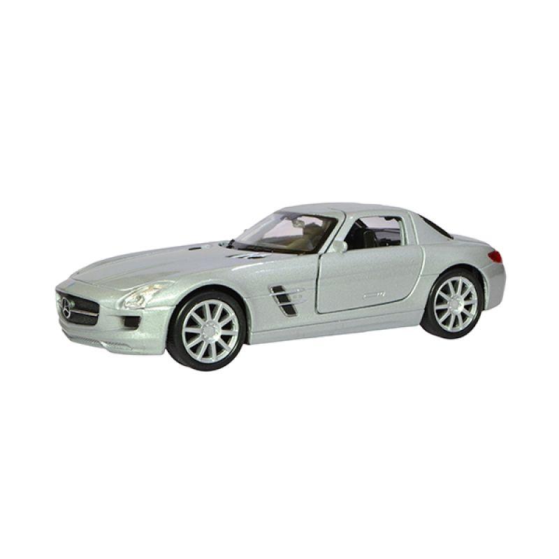 A1Toys Nex Mercedes-Benz SLS AMG Silver Diecast Mobil [1:36]