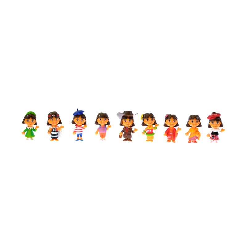 A1Toys Dora The Explorer Action Figure Set [9 Pcs]