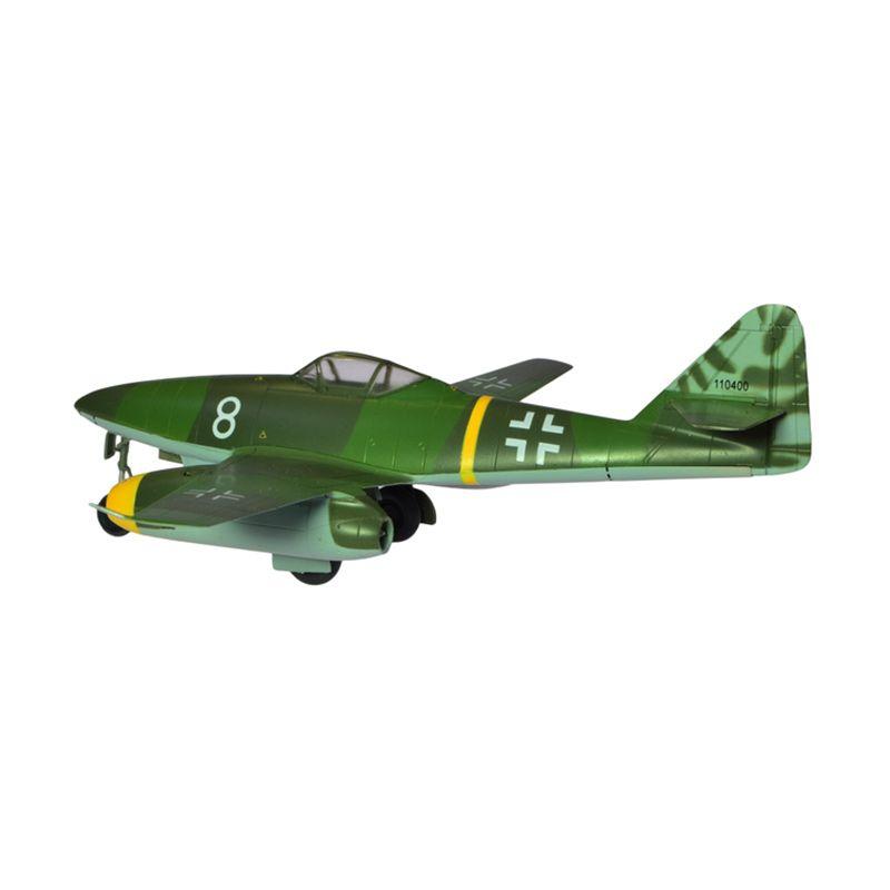 A1Toys Easy Model Me 262 A-1a White 8 Pesawat Tempur Dark Green Diecast