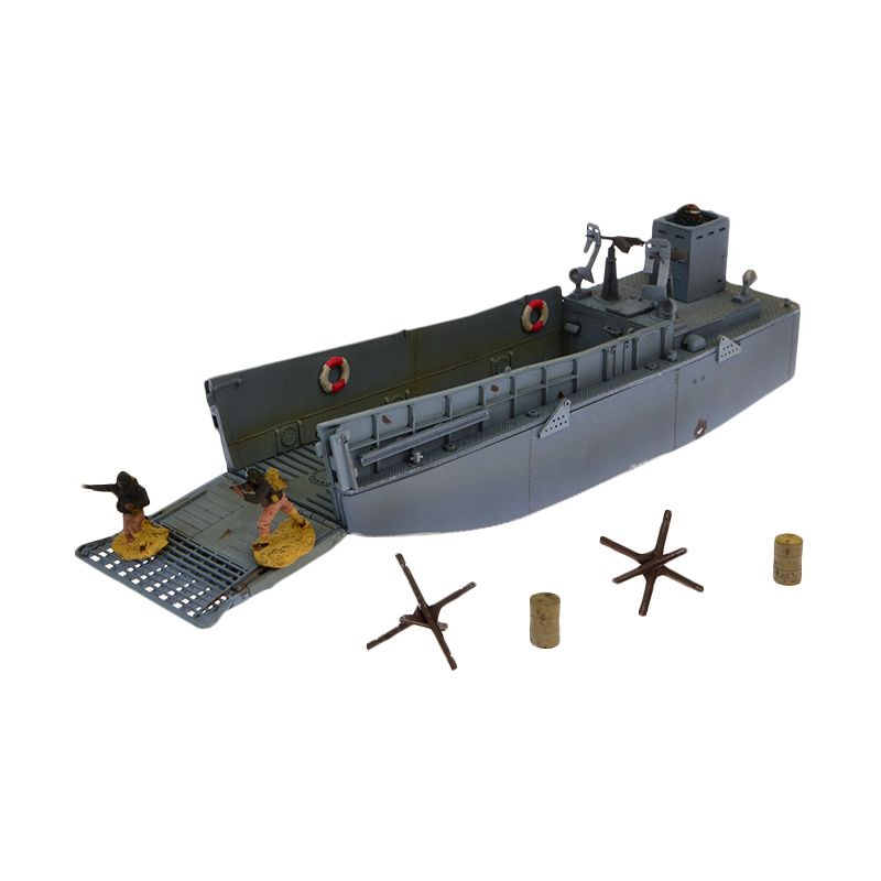A1 Toys Forces Of Valor U.S. Landing Craft LCM3 Normandy 1944 dan Serdadu Diecast