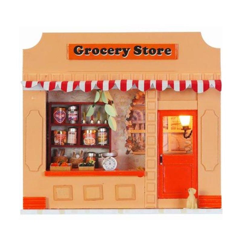 Hongda rumah miniatur DIY-art and craft-Grocery Store