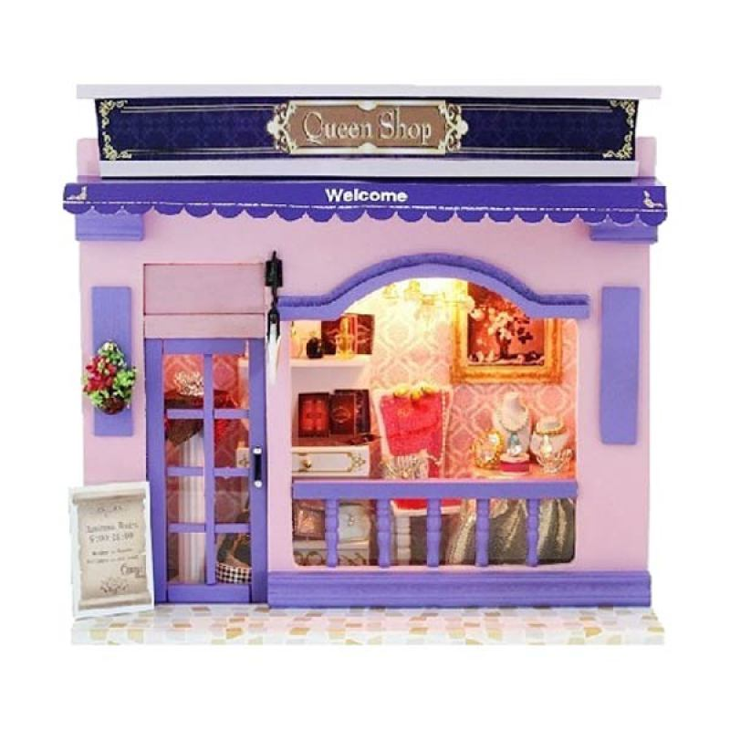 Hongda rumah miniatur DIY-art and craft-Queen Shop