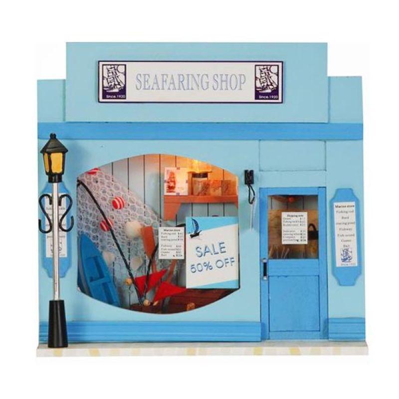 Hongda rumah miniatur DIY-art and craft-Seafaring Shop