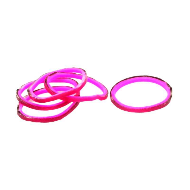 A1Toys Karet Rambut Korea Isi 300 Pcs Hitam Pink Karet Gelang Aksesoris