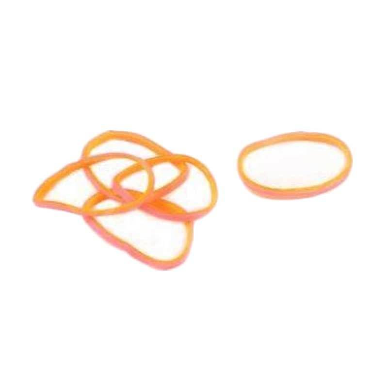 Karet Rambut Korea Isi 300Pcs Pink Orange Karet Gelang Aksesoris
