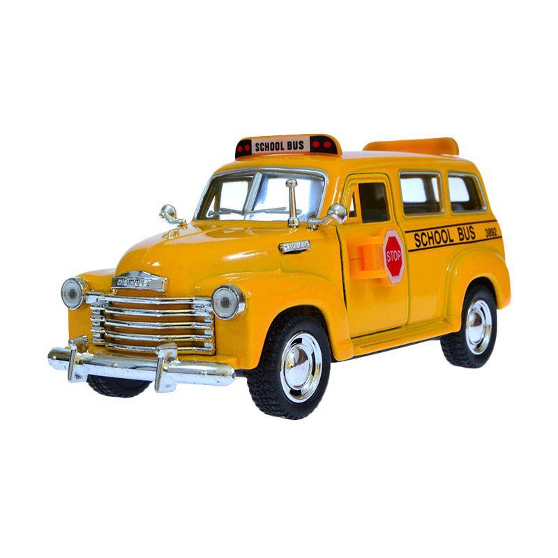 Kinsmart 1950 Chevrolet Suburban School Bus Yellow Diecast [13 cm]