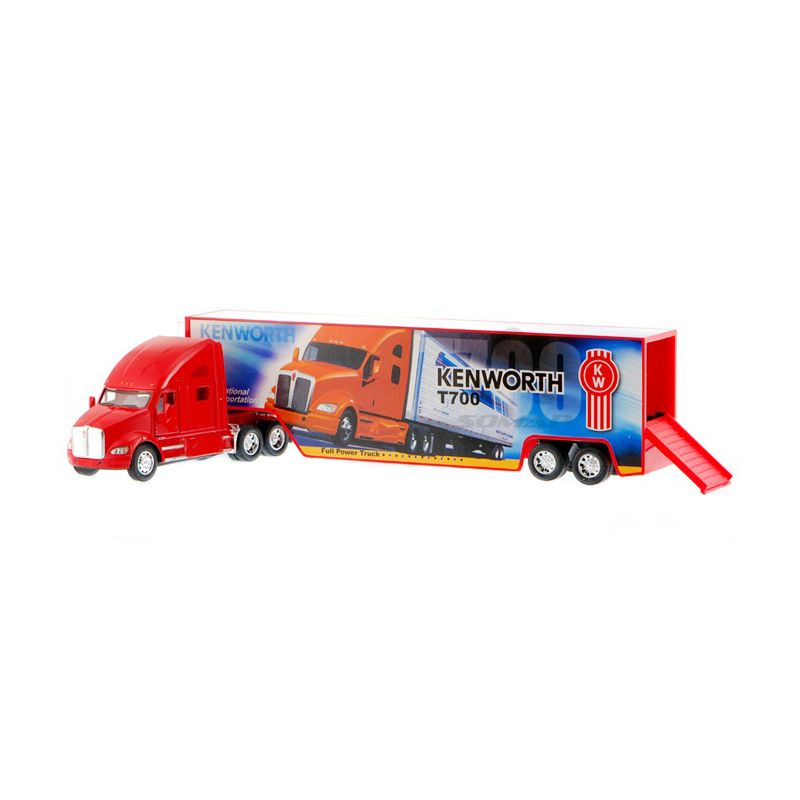 Kinsmart Kenworth T700 with Container Red Truk 32 C Diecast