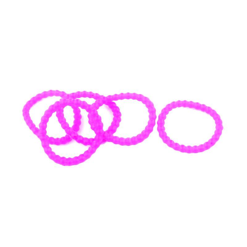 Loom Bands Karet Refill Bubble Ungu 300 Pcs