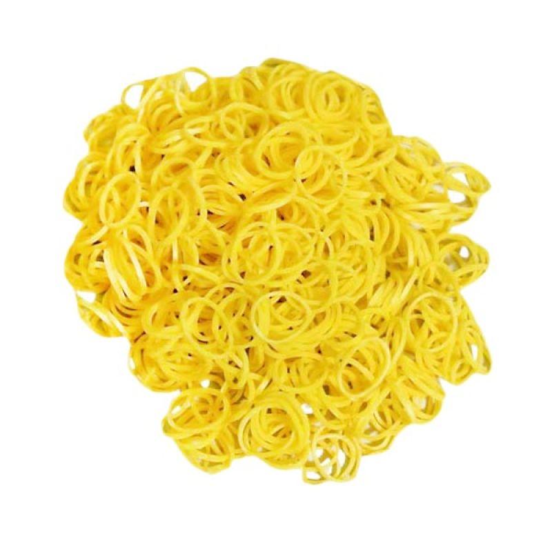 Loom Bands Karet Refill Jelly Kuning 300 Pcs