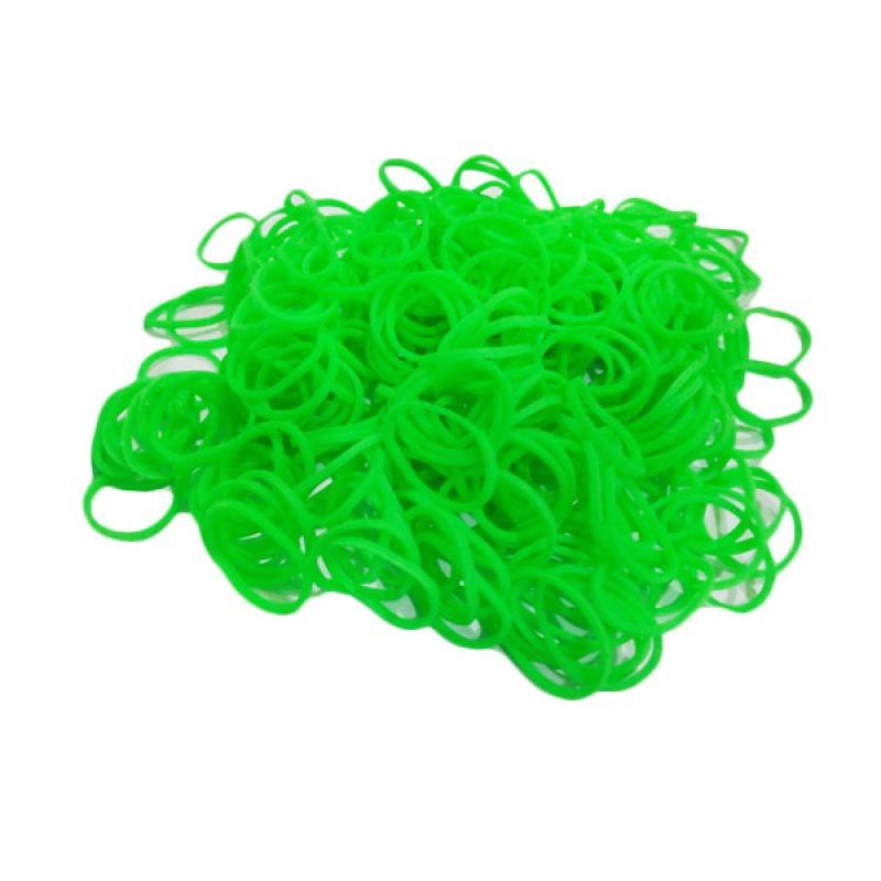 Loom Bands Karet Refill Neon Hijau 300 Pcs
