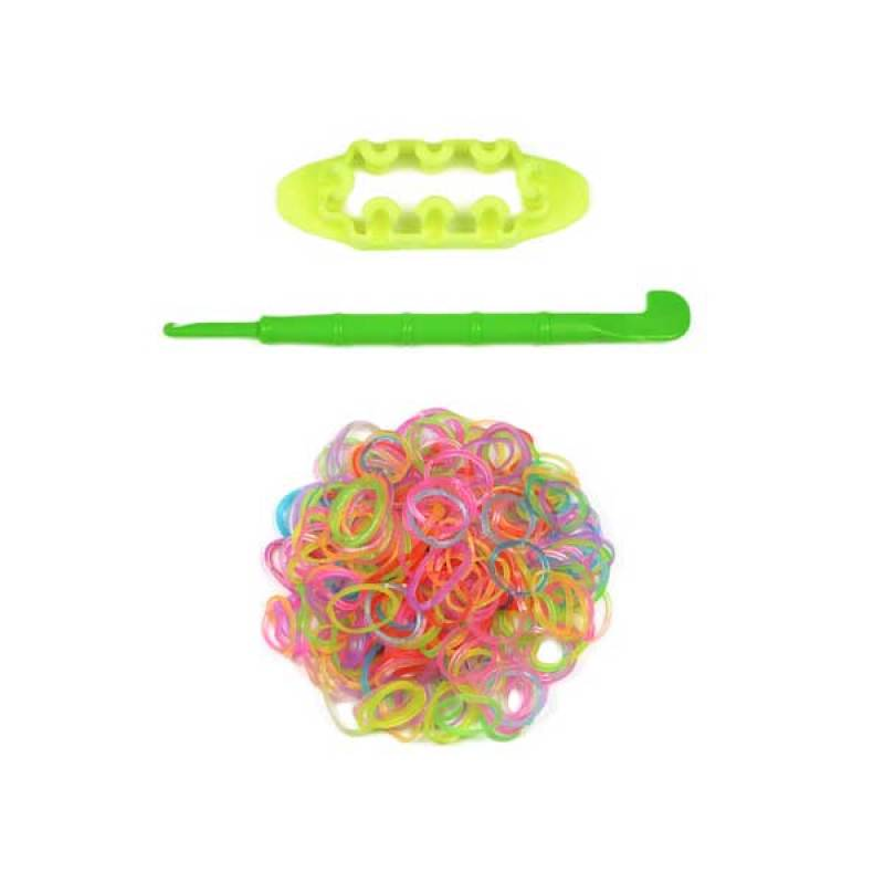 Loom Bands Monstertail Box Kecil Orange Starter Kit Ekonomis