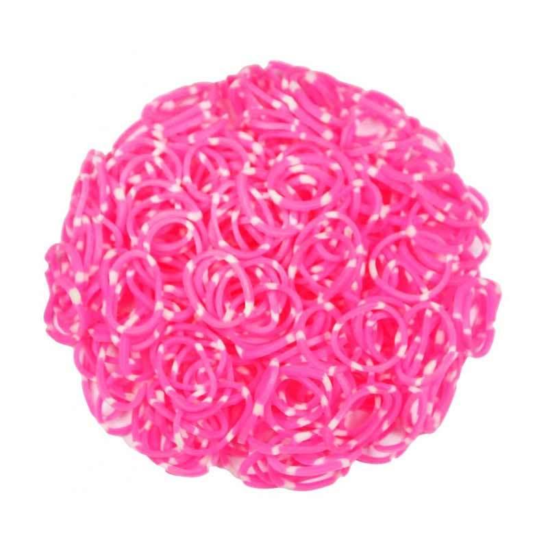 Loom Bands Polkadot Pink