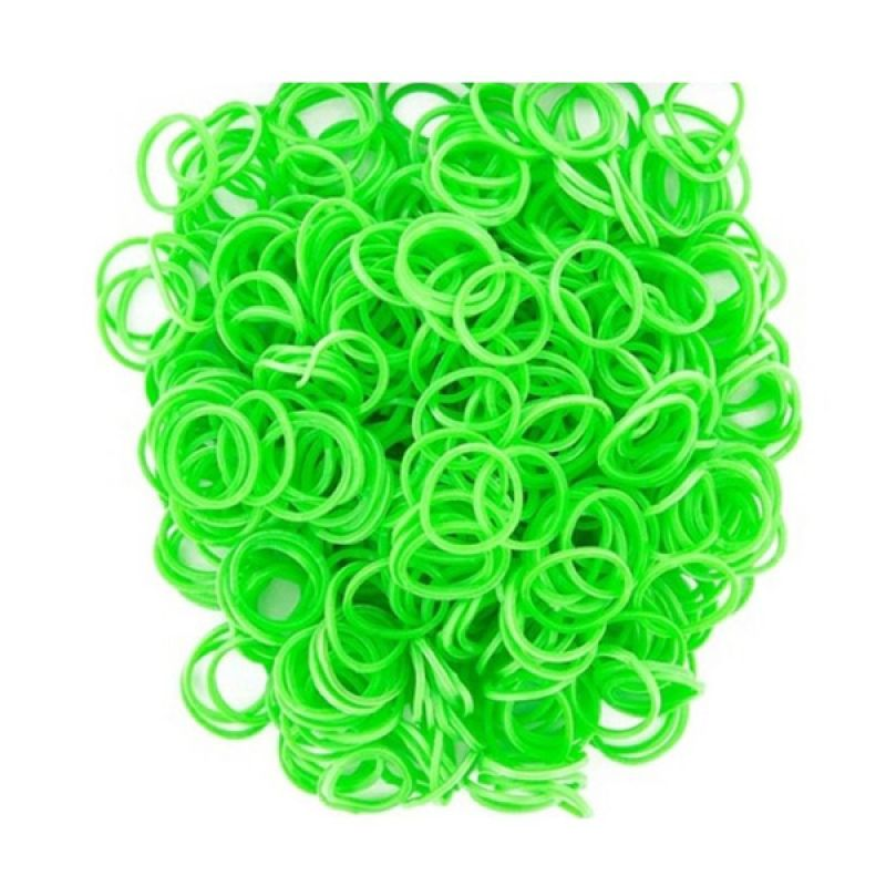 LOOM BANDS Rubber Bands Green Non Toxic Rainbow Loom [Isi 300Pcs]